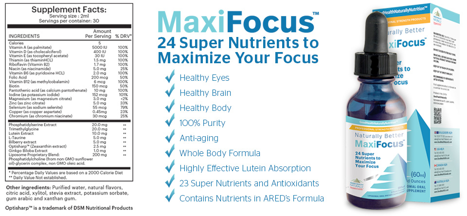 Supplement Facts for MaxiFocus